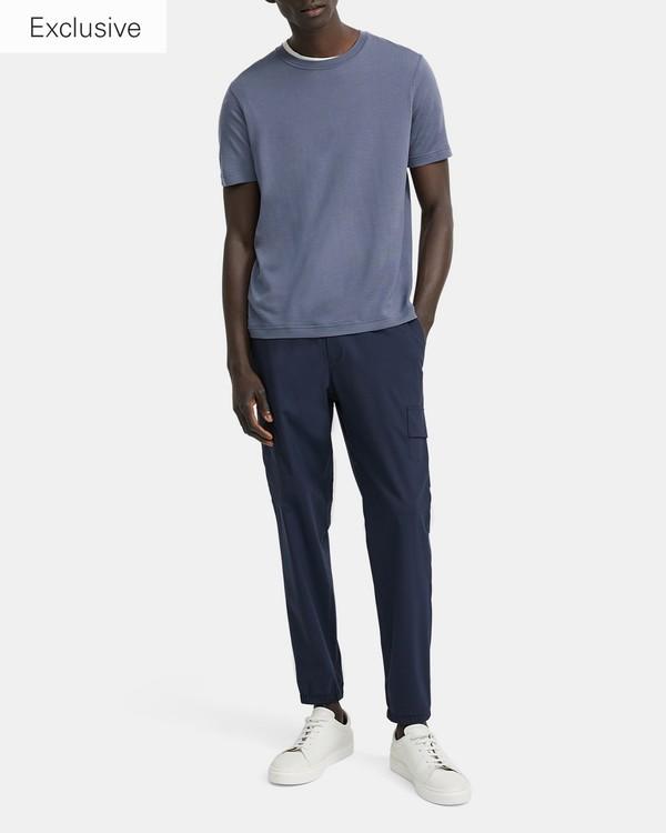 띠어리 크루넥 티셔츠 Theory Regal Wool Short-Sleeve Crewneck