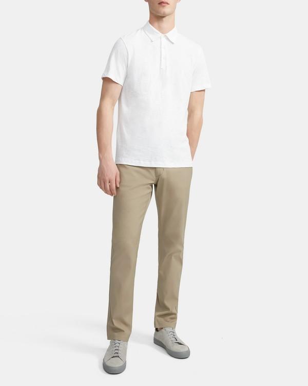 띠어리 폴로 반팔 티셔츠 Theory Slub Cotton Polo