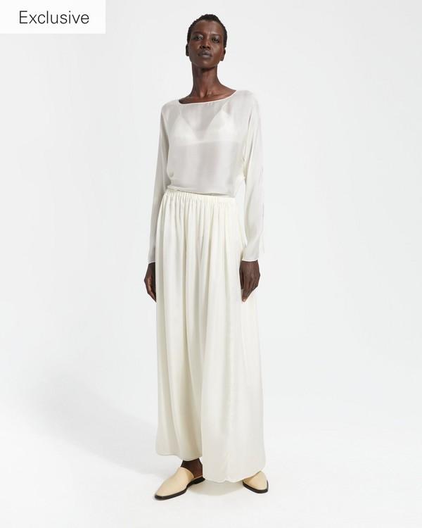 띠어리 Theory Silk Charmeuse Pull-On Skirt