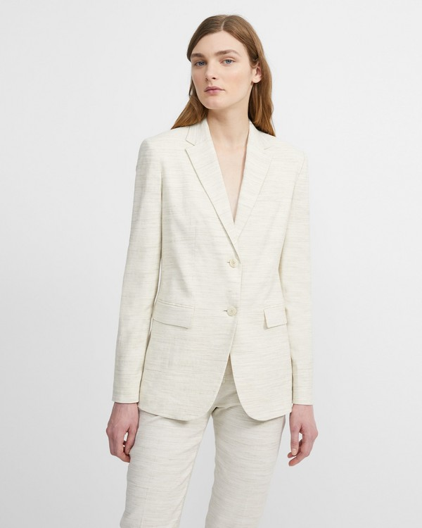 띠어리 Theory Sharkskin Crunch Classic Blazer,CALICO