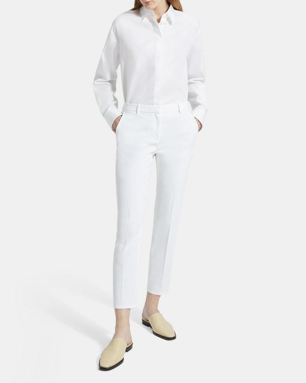 띠어리 Theory Good Linen Cropped Tailored Trouser