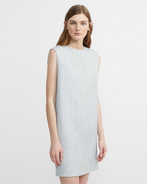 띠어리 리넨 블렌드 칼럼 원피스 Theory Linen Blend Column Dress,BLUE STREAM
