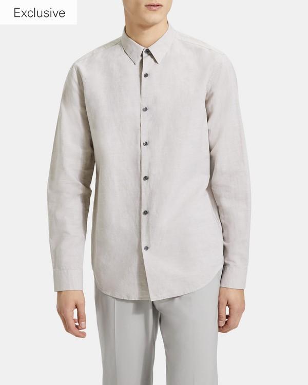 띠어리 린넨 어빙 셔츠 Theory Essential Linen Irving Shirt