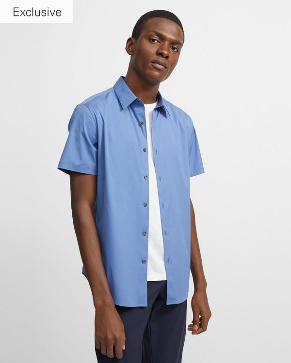 띠어리 맨 반팔 실뱅 셔츠 Theory Short-Sleeve Sylvain Shirt