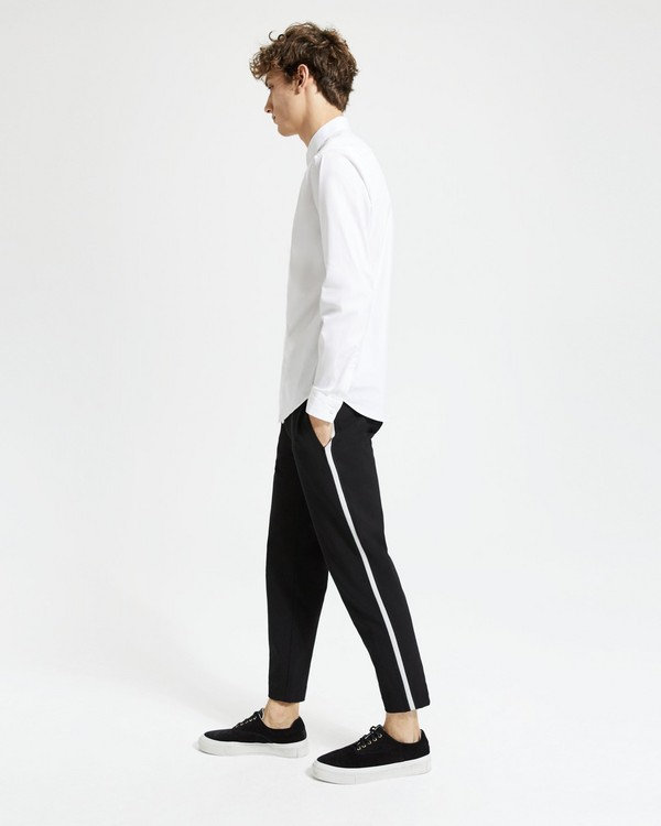 띠어리 Theory Tech Waffle Toggle Pant,BLACK