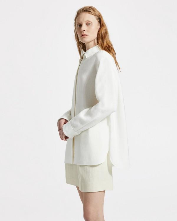띠어리 긴팔 Theory Pure Linen Classic Menswear Shirt