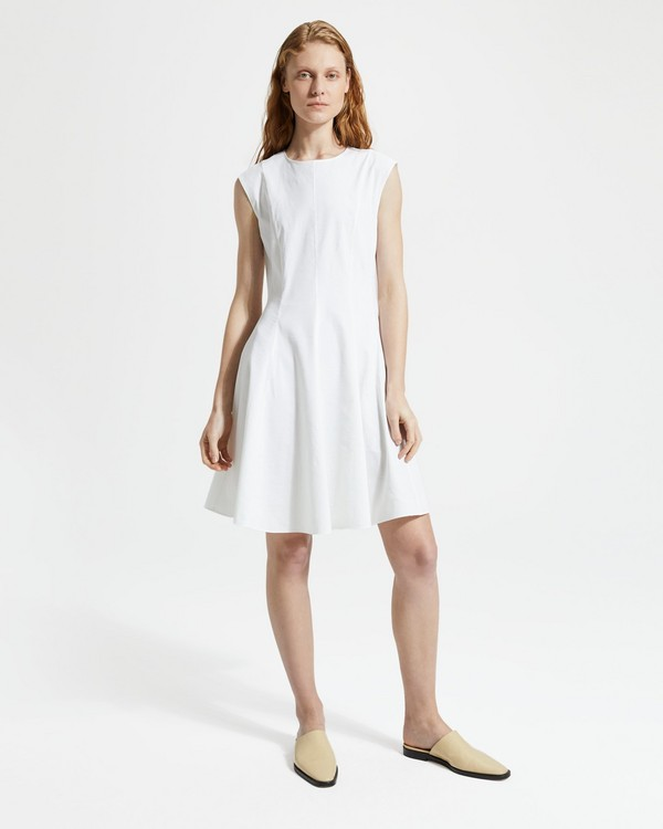 띠어리 페플럼 원피스 Theory Good Linen Sleeveless Peplum Dress