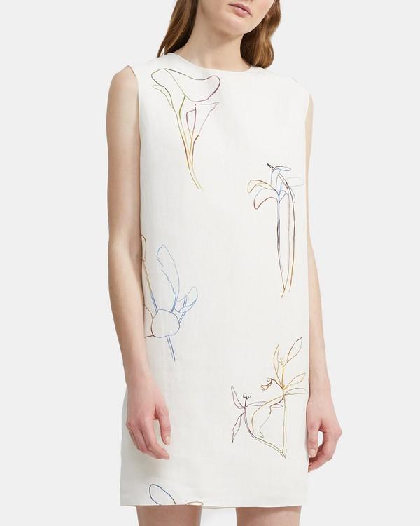 띠어리 Theory Nature Linen Column Dress,MULTI