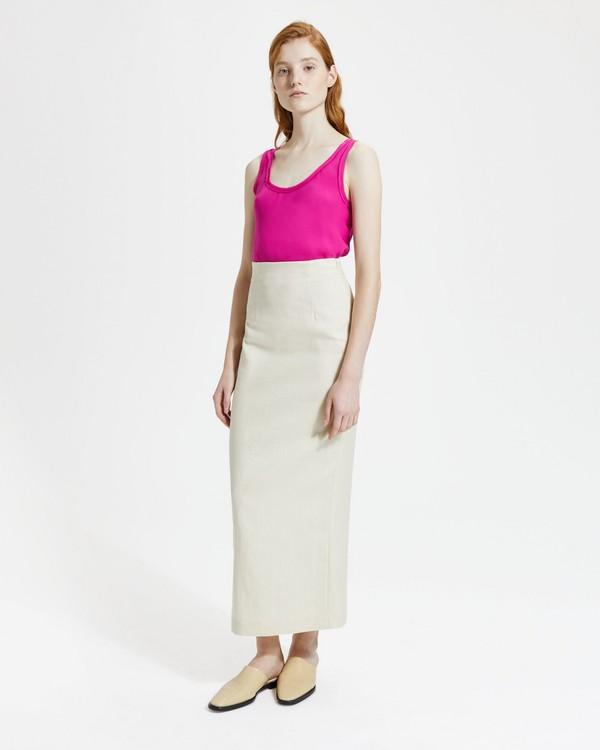 띠어리 Theory Luxe Linen Long Pencil Skirt,LIGHT LINEN