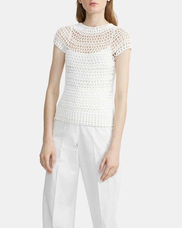 띠어리 Theory Crochet Tee,IVORY