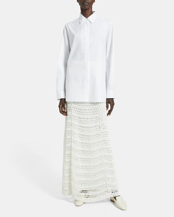 띠어리 Theory Crochet Maxi Skirt,IVORY