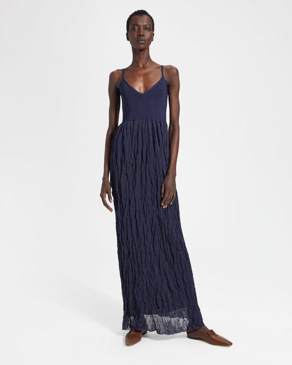 띠어리 Theory Crinkled Dress,NAVY