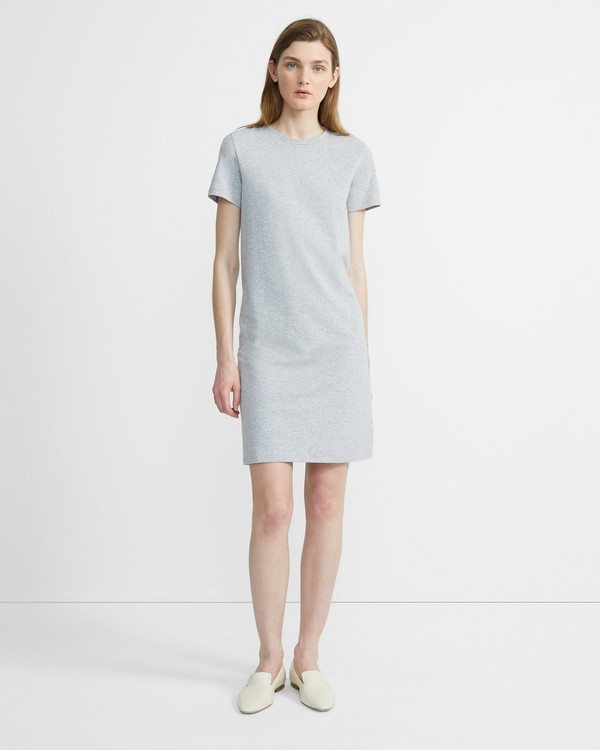 띠어리 Theory Continuous Tee Dress in Cotton-Modal,HEATHER GREY