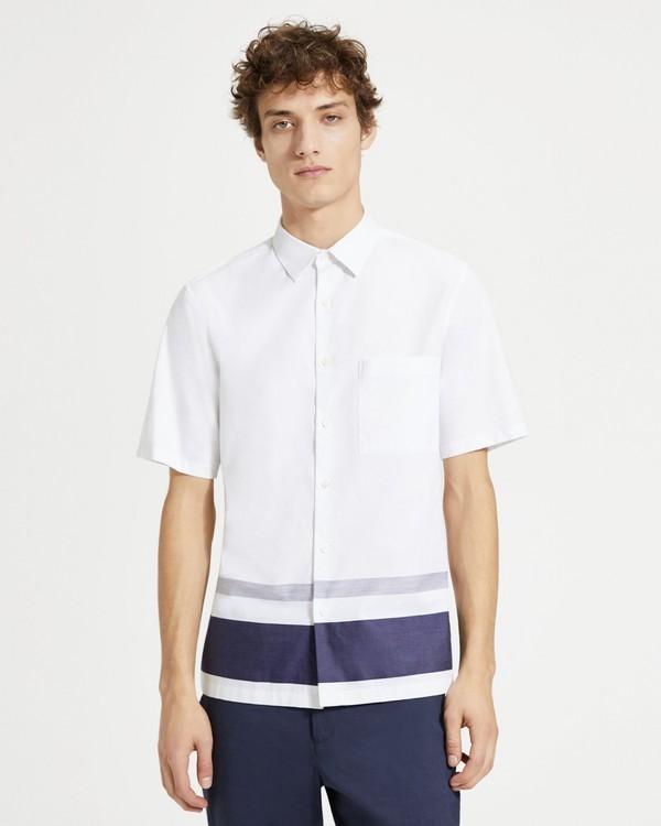 띠어리 맨 스트라이프 브루너 셔츠 - 이클립스 Theory Striped Bruner Shirt,ECLIPSE STRIPE