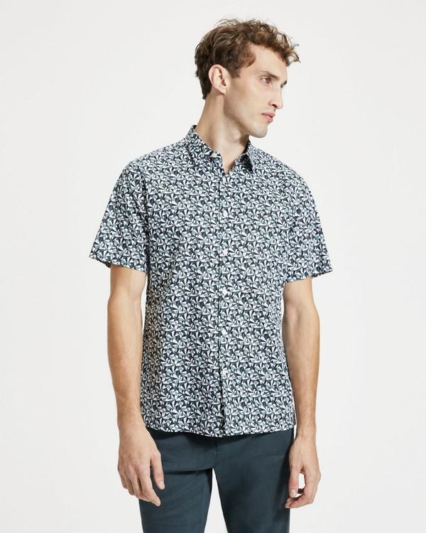 띠어리 맨 앱스트랙 프린트 어빙 셔츠 Theory Abstract Print Irving Shirt