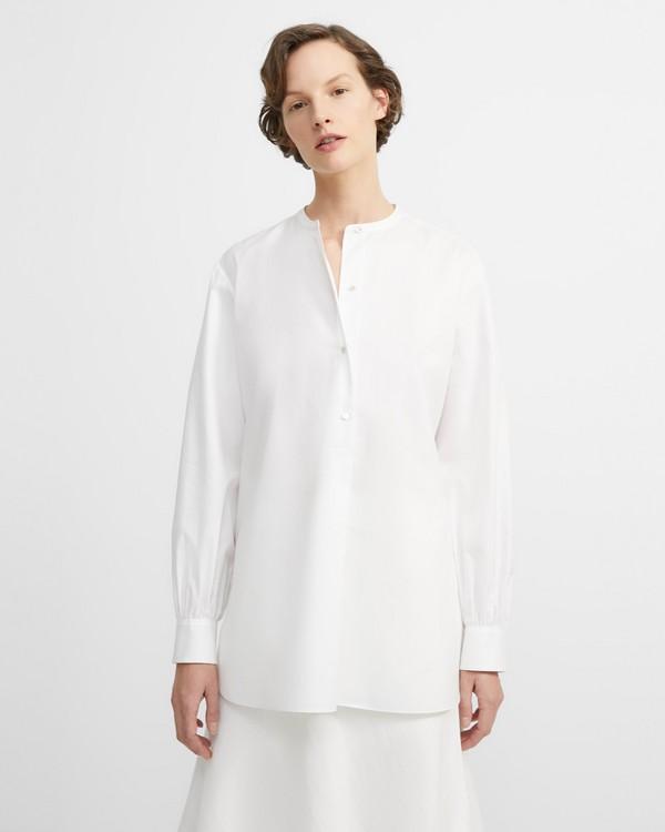 띠어리 팝오버 튜닉 Theory Perfect Cotton Popover Tunic,WHITE
