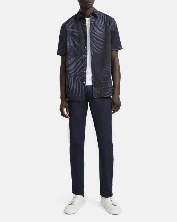띠어리 야자수 반팔 셔츠 Theory Palm Print Menlo Shirt,ECLIPSE MULTI