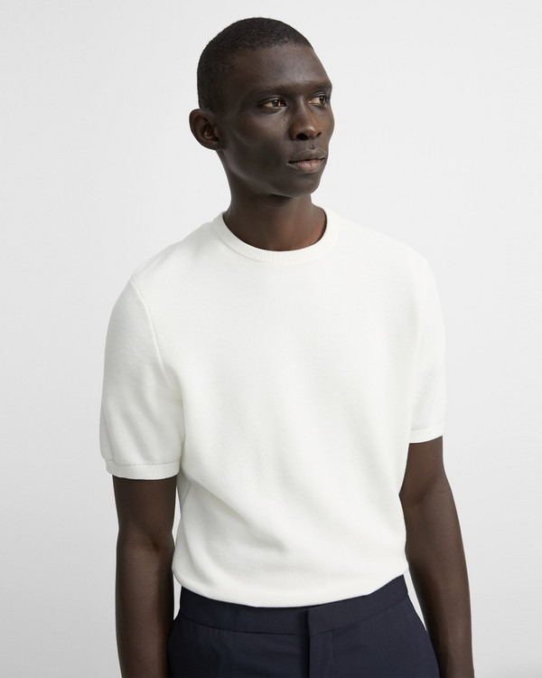 띠어리 피케 셔츠 Theory Cotton Pique Canaro Short-Sleeve Shirt