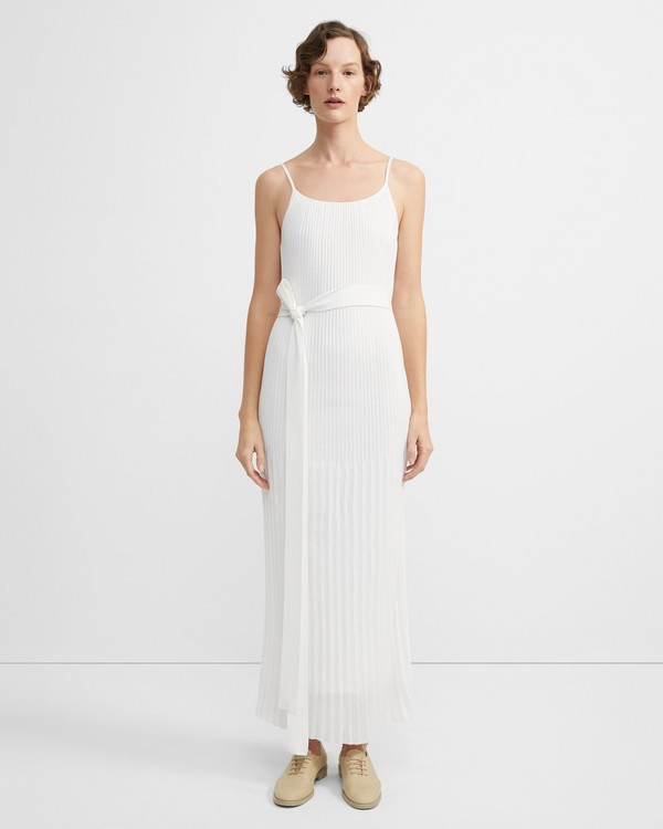 띠어리 주름 디테일 원피스 Theory Pleated Dress in Stretch Cotton