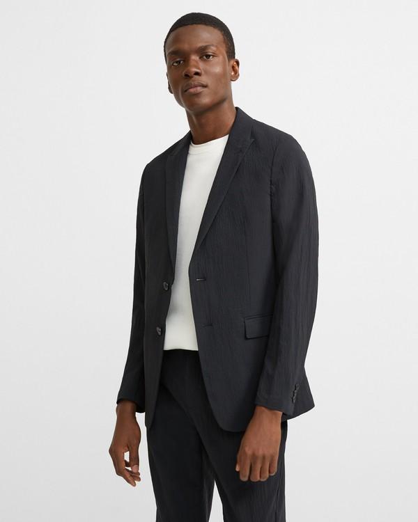 띠어리 자켓 Theory Stretch Nylon Clinton Jacket,BLACK