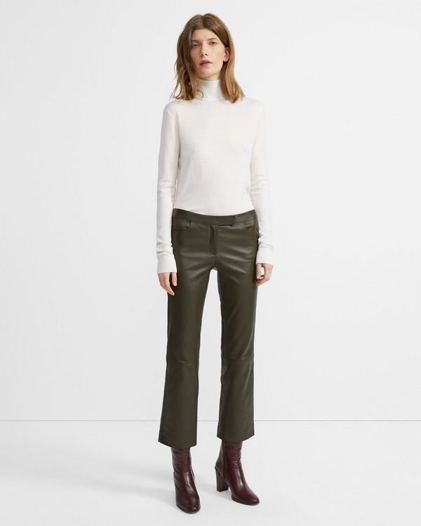 띠어리 Theory Leather Crop Pant