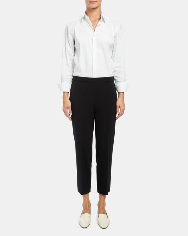 띠어리 Theory Crepe Basic Pull-On Pant,BLACK