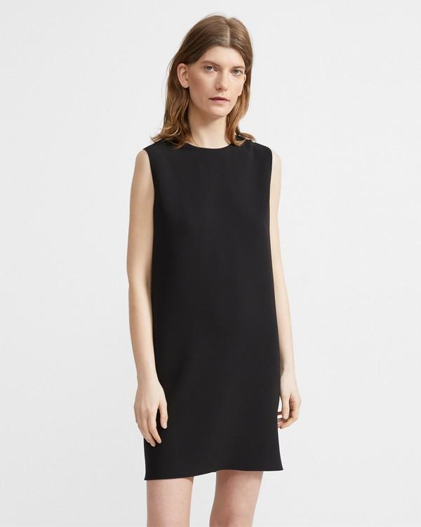 띠어리 Theory Crepe Column Dress,BLACK
