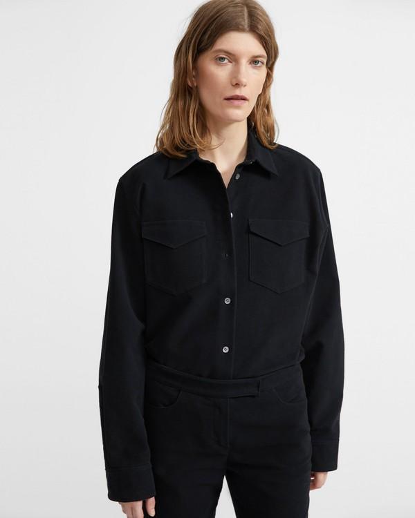 띠어리 Theory Moleskin Twill Men's Pocket Shirt