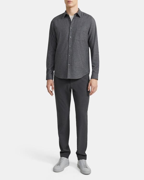 띠어리 셔츠 Theory Irving Shirt in Cotton Sateen