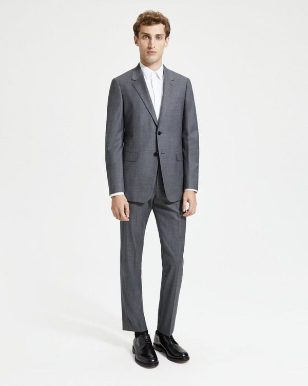 띠어리 정장 Theory Sartorial Sharkskin Wool Chambers Suit,CHARCOAL