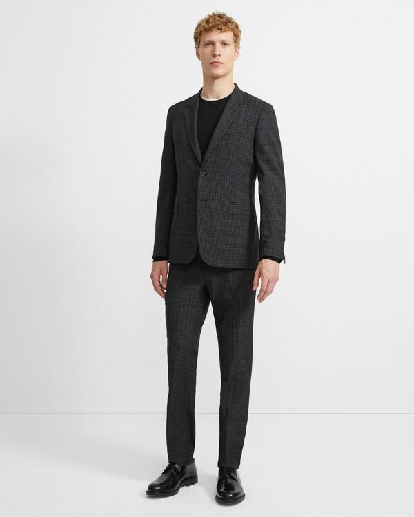 띠어리 울 체크보드 챔버스 수트 Theory Wool Checkerboard Chambers Suit,CHARCOAL CHECK