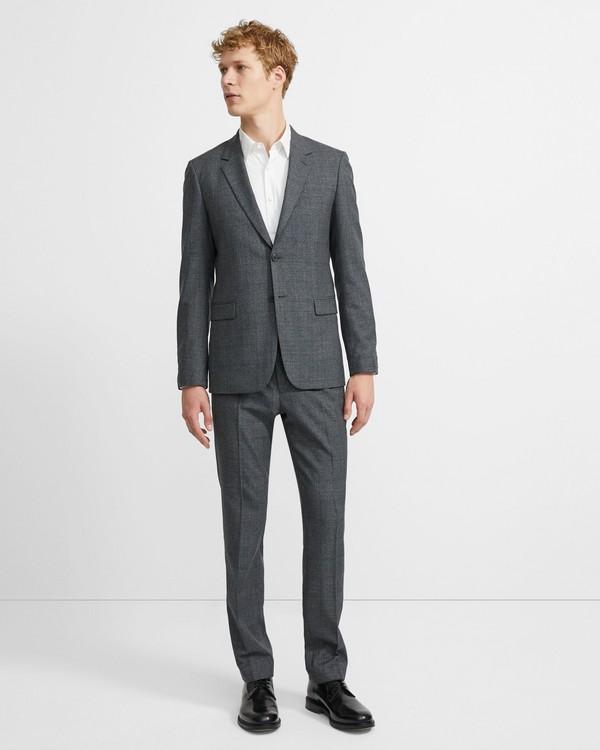 띠어리 울 글렌 플레이드 챔버스 수트 수트 Theory Wool Glen Plaid Chambers Suit,CHARCOAL MULTI
