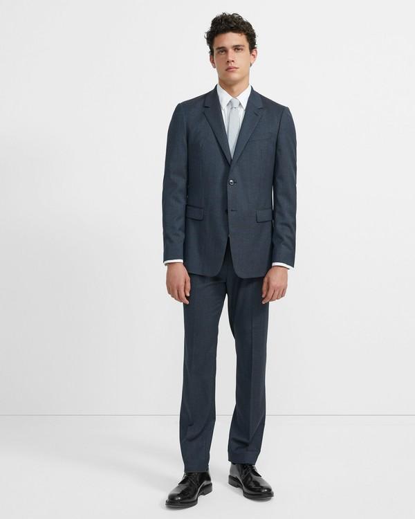 띠어리 울 그레인 챔버스 수트 Theory Wool Grain Chambers Suit,BLUE MULTI