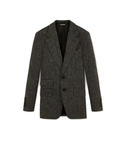 DONEGAL TWEED NOTCH LAPEL LIGHT CONSTRUCTION JACKET