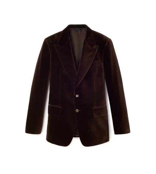 BROWN VELVET SHELTON JACKET