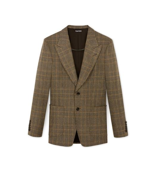 GRAND CHECK SHELTON PEAK LAPEL JACKET