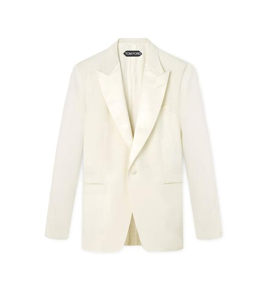 SATIN PEAK LAPEL WINDSOR JACKET