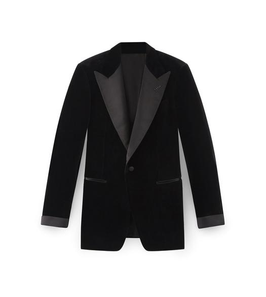 VELVET SHELTON PEAK LAPEL COCKTAIL JACKET