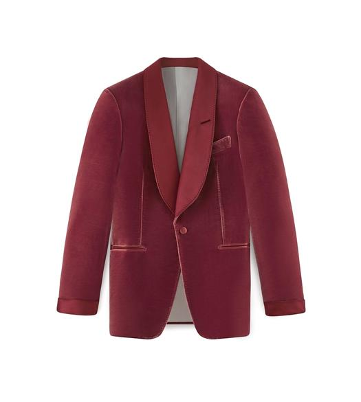 PINK VELVET SHELTON COCKTAIL JACKET