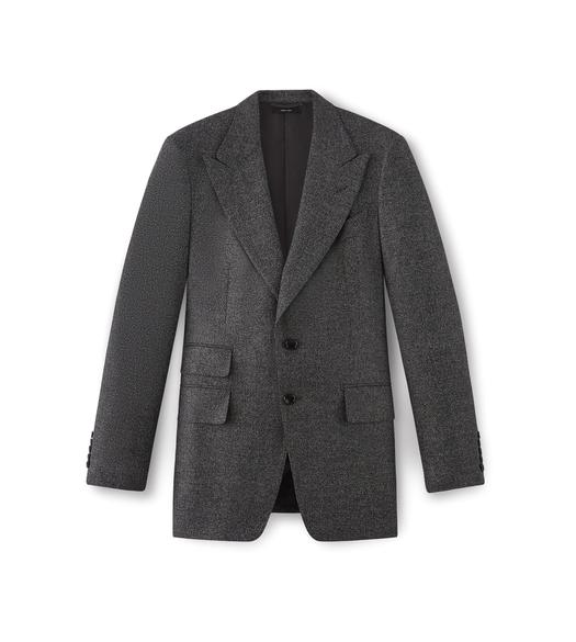 FLANNEL SHELTON PEAK LAPEL SPORT JACKET
