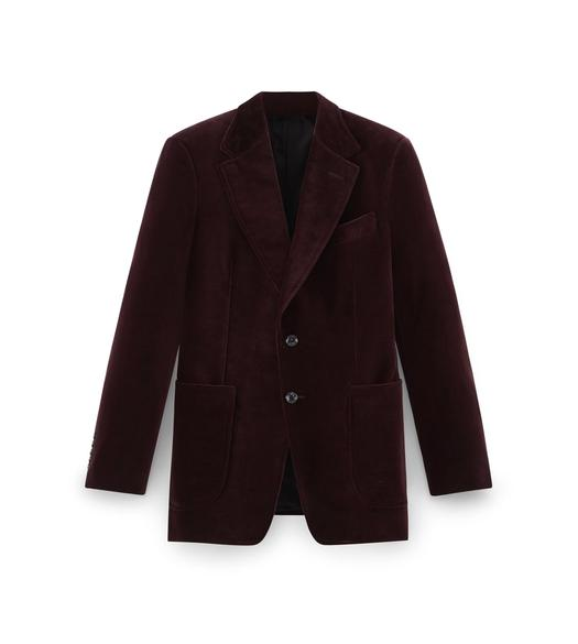 OXBLOOD VELVET SHELTON JACKET