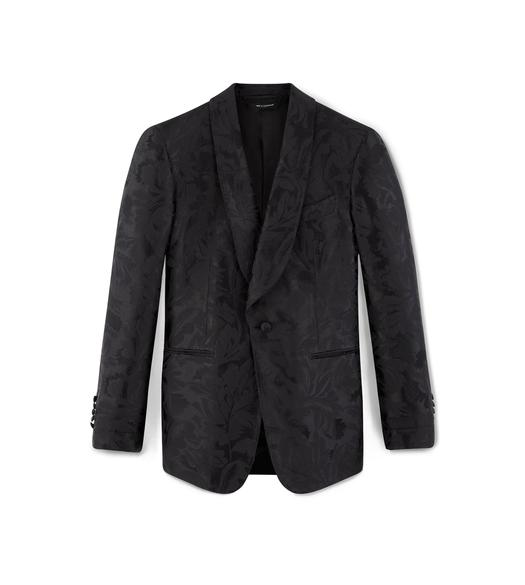 BLACK JACQUARD SHELTON COCKTAIL JACKET