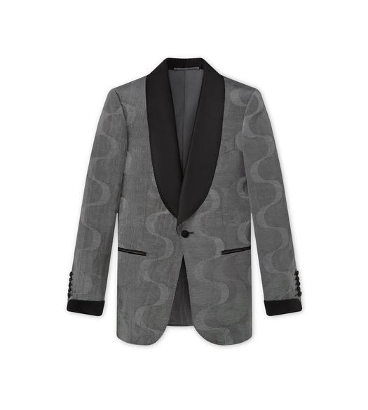 YING YANG MOIRE' SHELTON SHAWL COCKTAIL JACKET