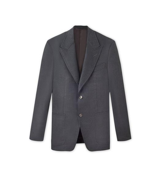 WOOL SILK DELAVE SPENCER SPORT JACKET