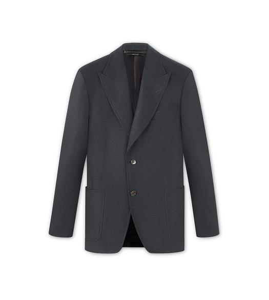CASHMERE BLEND HOPSACK SPENCER SPORT JACKET