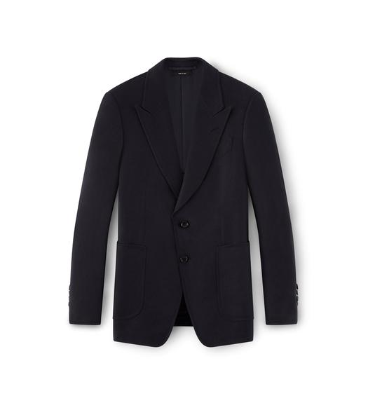 NAVY SHELTON PEAK LAPEL SPORT JACKET