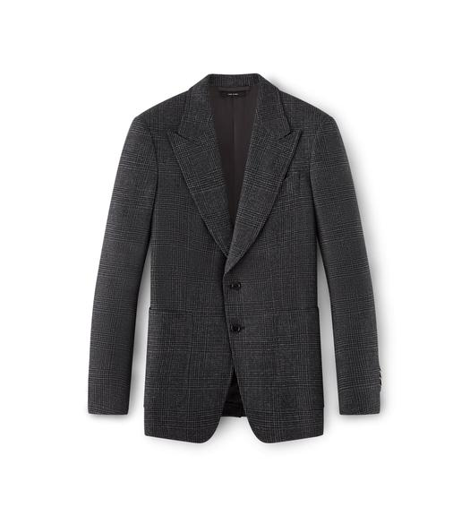 GREY SHELTON PEAK LAPEL SPORT JACKET