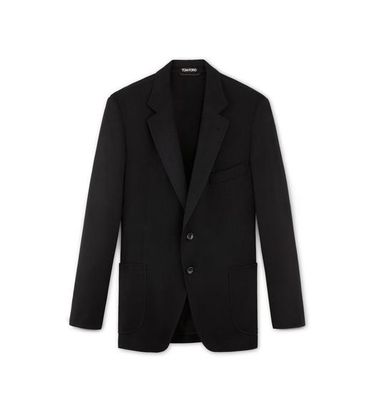 BRUSHED CASHMERE TWILL O'CONNOR LIGHT CONSTRUCTION JACKET