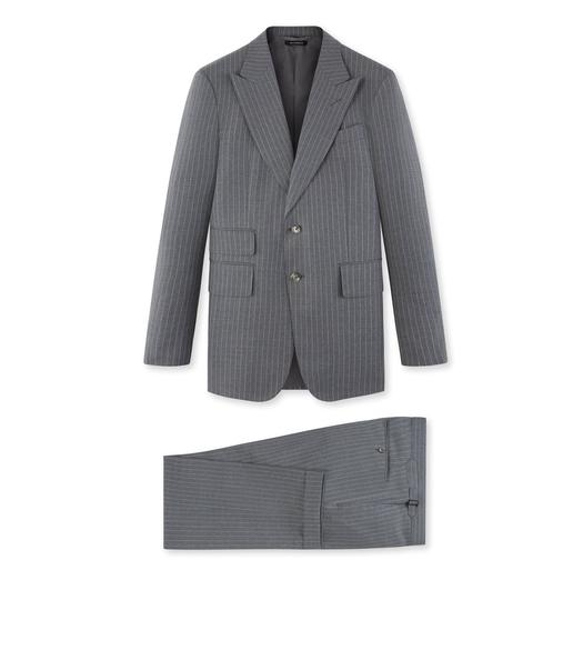 GREY STRIPE SHELTON SUIT