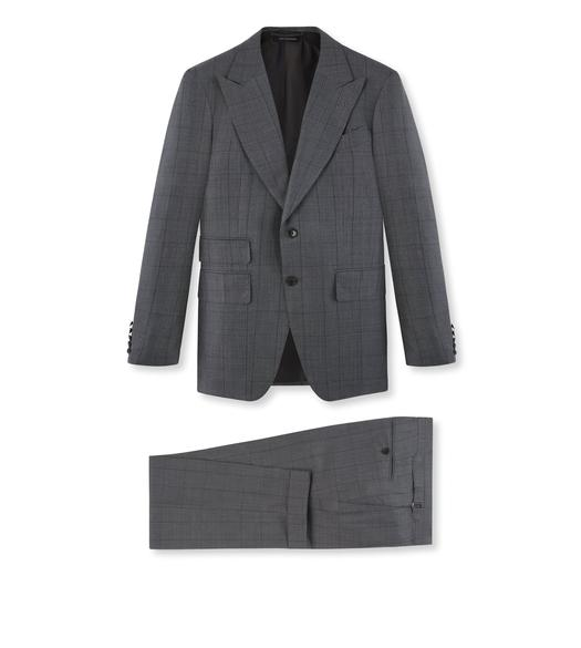 GREY MICRON CHECK SHELTON SUIT